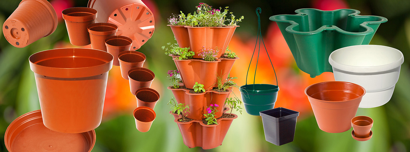 Pc plastics flower pots